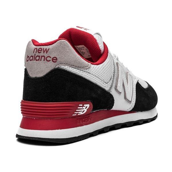 new concept f2f7a d3f9e New Balance 574 - White/Red/Black