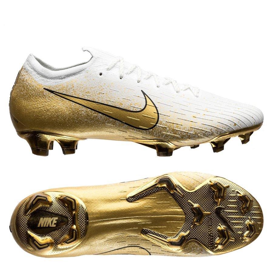 Nike Mercurial Vapor 12 Elite FG - Hvid/Guld/Sølv