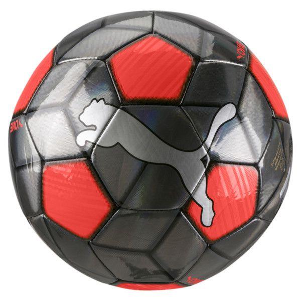 PUMA One Strap Fodbold – Sølv/Rød