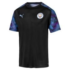 Manchester City Tränings T-Shirt - Svart/Blå