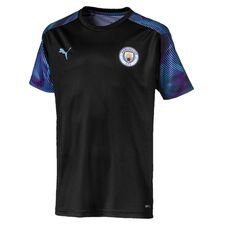 Manchester City Tränings T-Shirt - Svart/Blå Barn