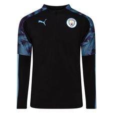 Manchester City Träningströja 1/4 Blixtlås - Svart/Blå Barn