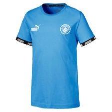 Manchester City T-Shirt FtblCulture - Blå/Vit Barn