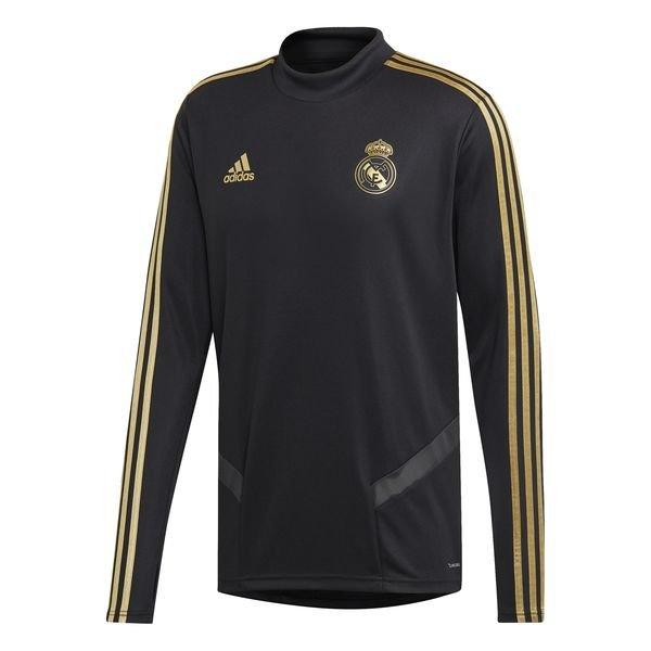 super popular 60a8d 42cd4 Real Madrid Training Shirt - Black/Gold
