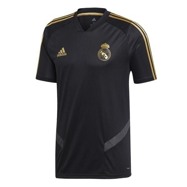 Real Madrid Tränings T Shirt SvartGuld Barn