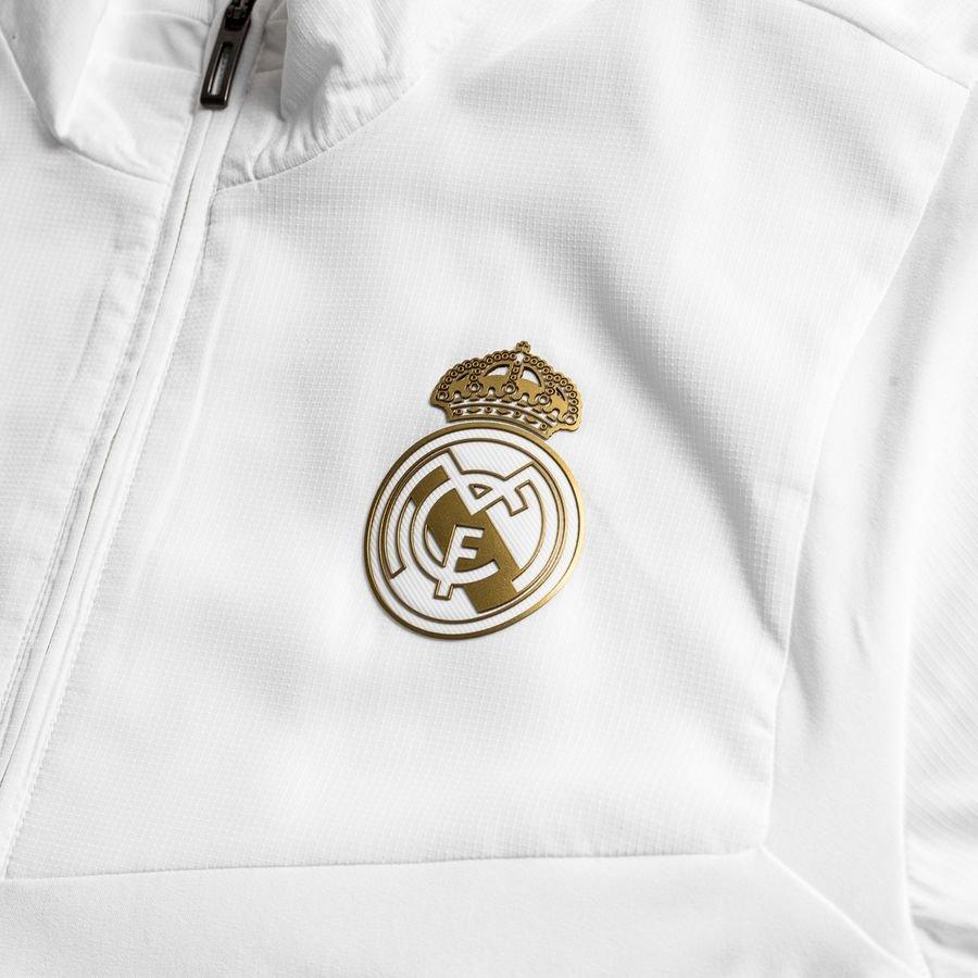 Real Madrid Treningsjakke Presentation HvitGull