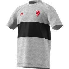 Manchester United T-Shirt Graphic - Grå/Svart Barn