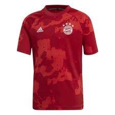 Bayern München Tränings T-Shirt Pre Match Hemma Parley - Röd/Röd Barn