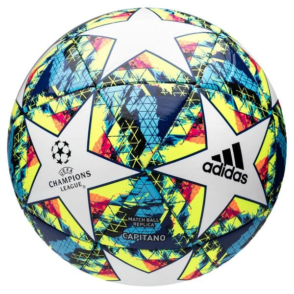 Nominación invadir .  adidas Football Champions League 2020 Finale Capitano - White/Bright  Cyan/Solar Yellow | www.unisportstore.com