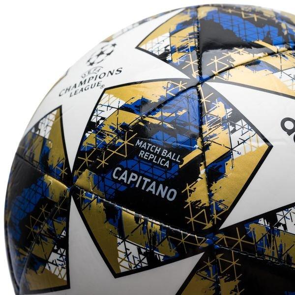 adidas Fußball Champions League 2019 Finale Capitano WeißFootball BlueSchwarzGold
