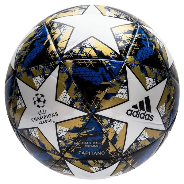 Adidas Fussball Champions League 2019 Finale Capitano Weiss Football Blue Schwarz Gold