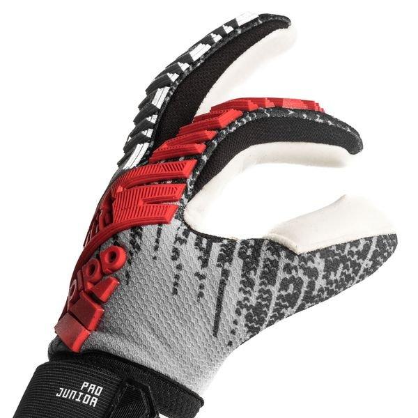 adidas Goalkeeper Gloves Predator Pro Junior 302 Redirect - Silver  Metallic/Black/Hi-Res Red Kids