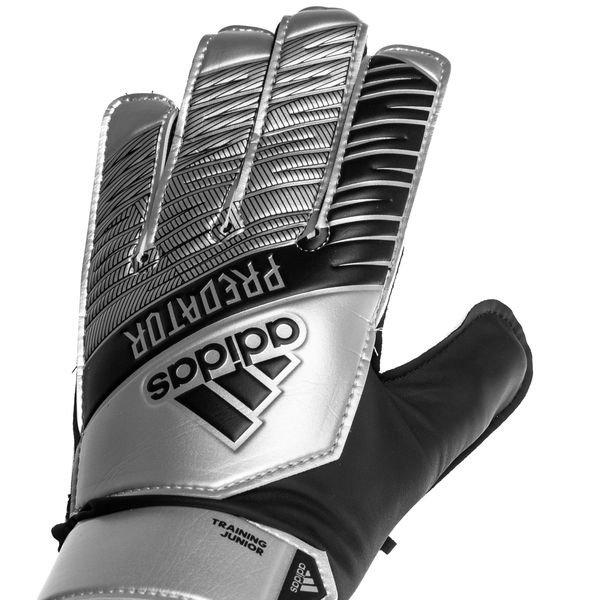 adidas Goalkeeper Gloves Predator Training 302 Redirect Silver MetallicBlack Kids