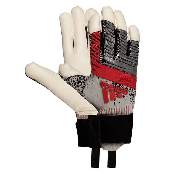 adidas Goalkeeper Gloves Predator Pro Hybrid PC 302 Redirect - Silver  Metallic/Black