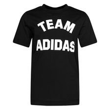 adidas T-Shirt Varsity ID - Schwarz/Weiß Kinder
