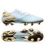adidas Nemeziz Messi 19.1 FG/AG 15 Years - Turquoise/Doré/Blanc ÉDITION LIMITÉE