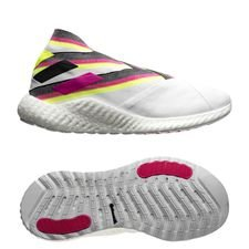 adidas Nemeziz 19+ Trainer Polarize - Footwear White/Shock Pink/Solar Yellow LIMITED EDITION