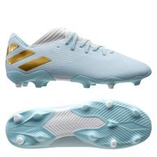 adidas Nemeziz Messi 19.3 FG/AG 15 Years - Footwear White/Gold Metallic/Light Aqua LIMITED EDITION