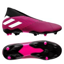 adidas Nemeziz 19.3 FG/AG Laceless Hard Wired - Pink/Hvid/Sort
