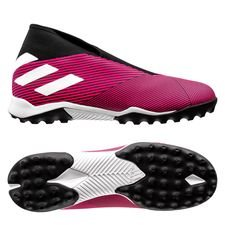 adidas Nemeziz Tango 19.3 TF Laceless Hard Wired - Rosa/Vit/Svart