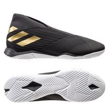 adidas Nemeziz Tango 19.3 IN Laceless Dark Script - Sort/Guld