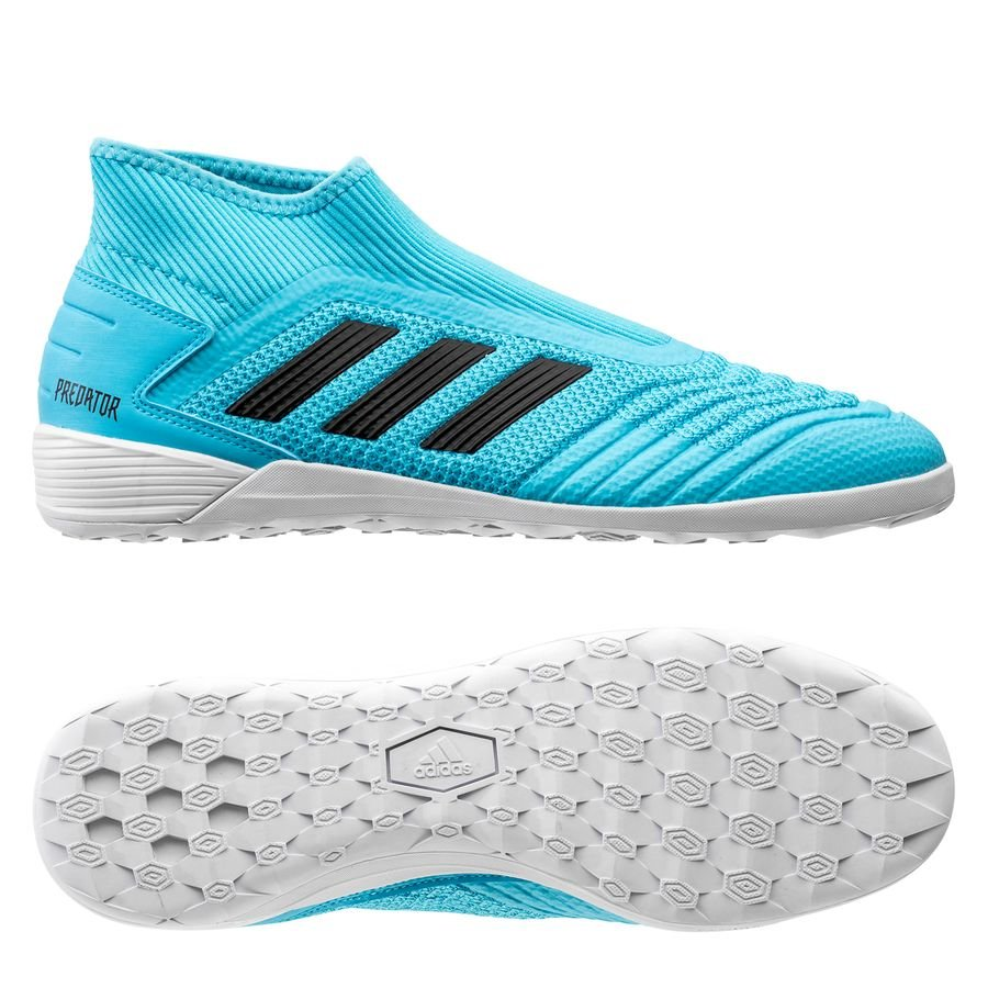 adidas Predator 19.3 IN Laceless Hard Wired - Turkis/Sort