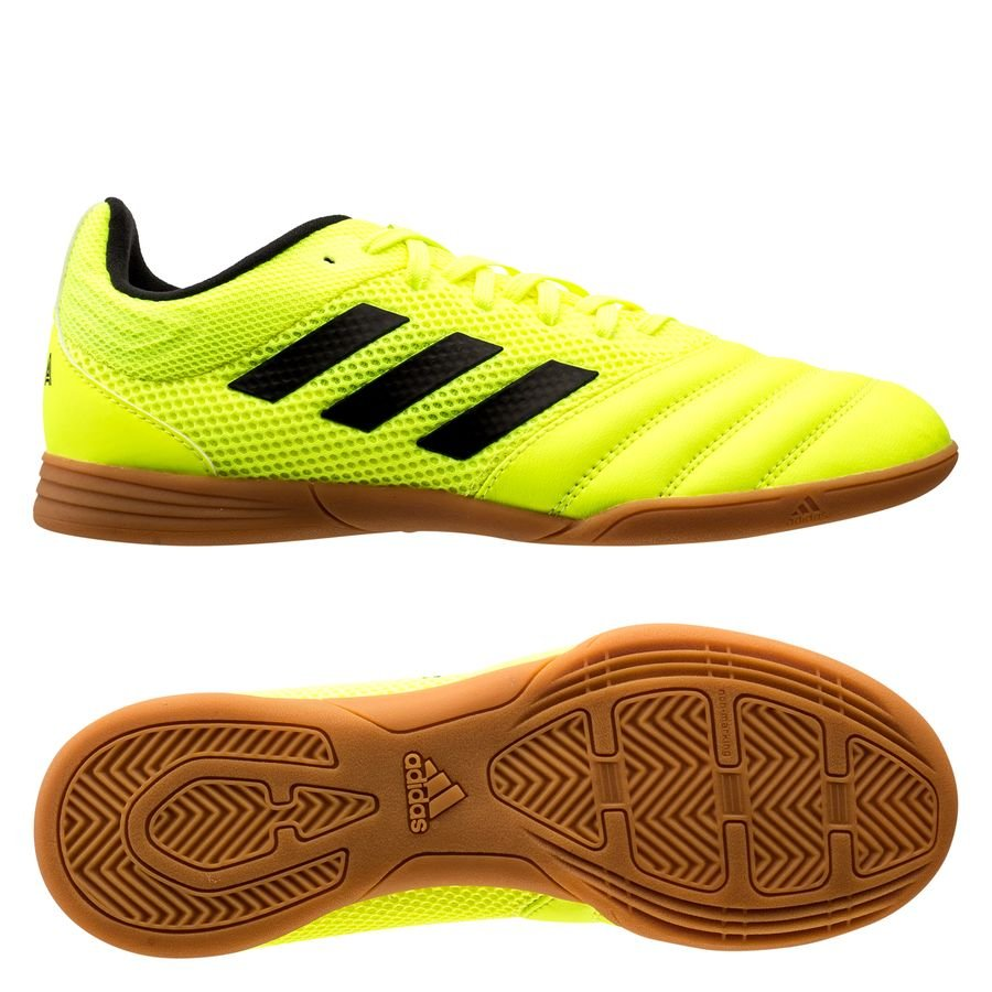 adidas Copa 19.3 IN Hard Wired - Gul/Sort Børn thumbnail