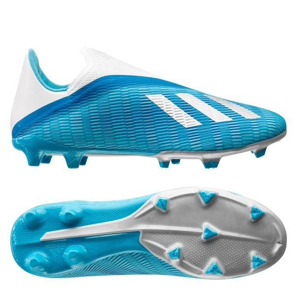adidas X 19.3 FG/AG Laceless Hard Wired - Bright Cyan/Core Black
