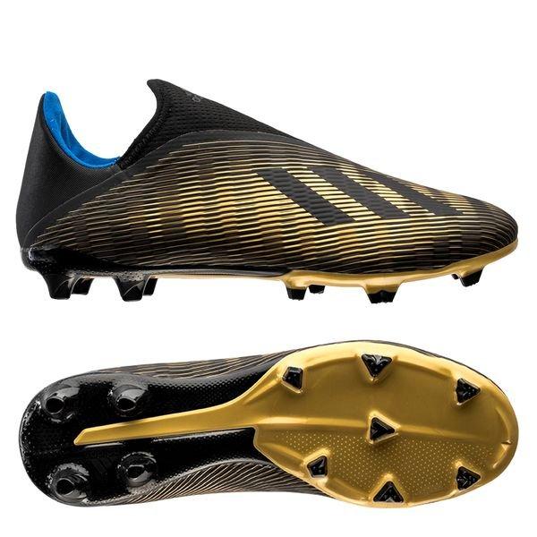 adidas X 19.3 FG/AG Laceless Input Code - Core Black/Gold Metallic