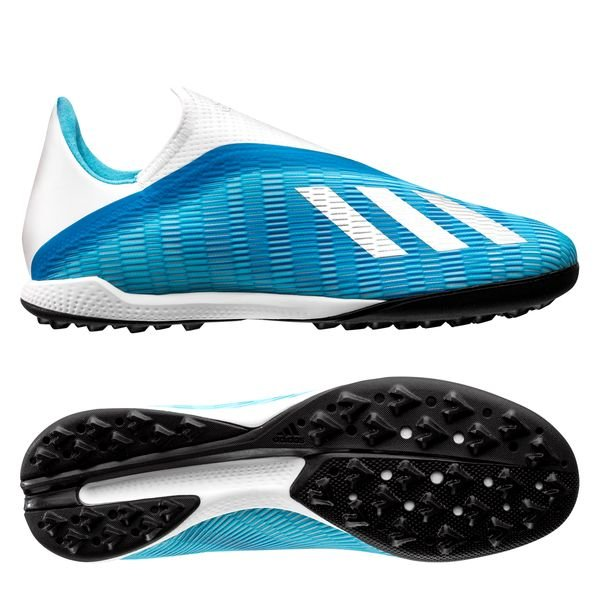 the latest 139d1 194a2 adidas X 19.3 TF Laceless Hard Wired - Bright Cyan/Silver Metallic