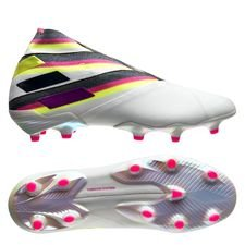 adidas Nemeziz 19+ FG/AG Polarize - Footwear White/Shock Pink/Solar Yellow LIMITED EDITION