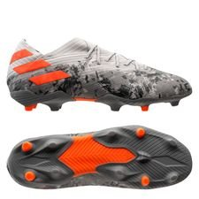 adidas Nemeziz 19.1 FG/AG Encryption - Grå/Orange/Vit Barn