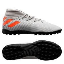 adidas Nemeziz 19.3 TF Encryption - Grå/Orange/Vit Barn