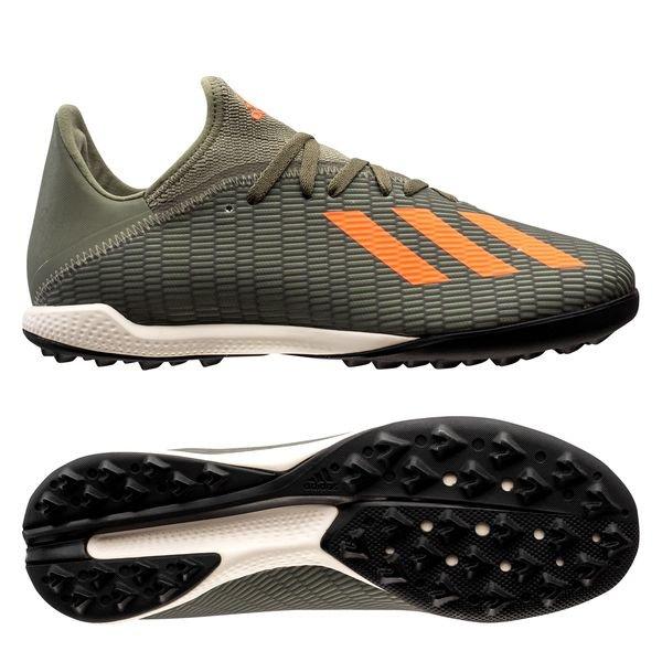 Football boots Shoes Adidas X 19.3 Turf Green Encryption 2020