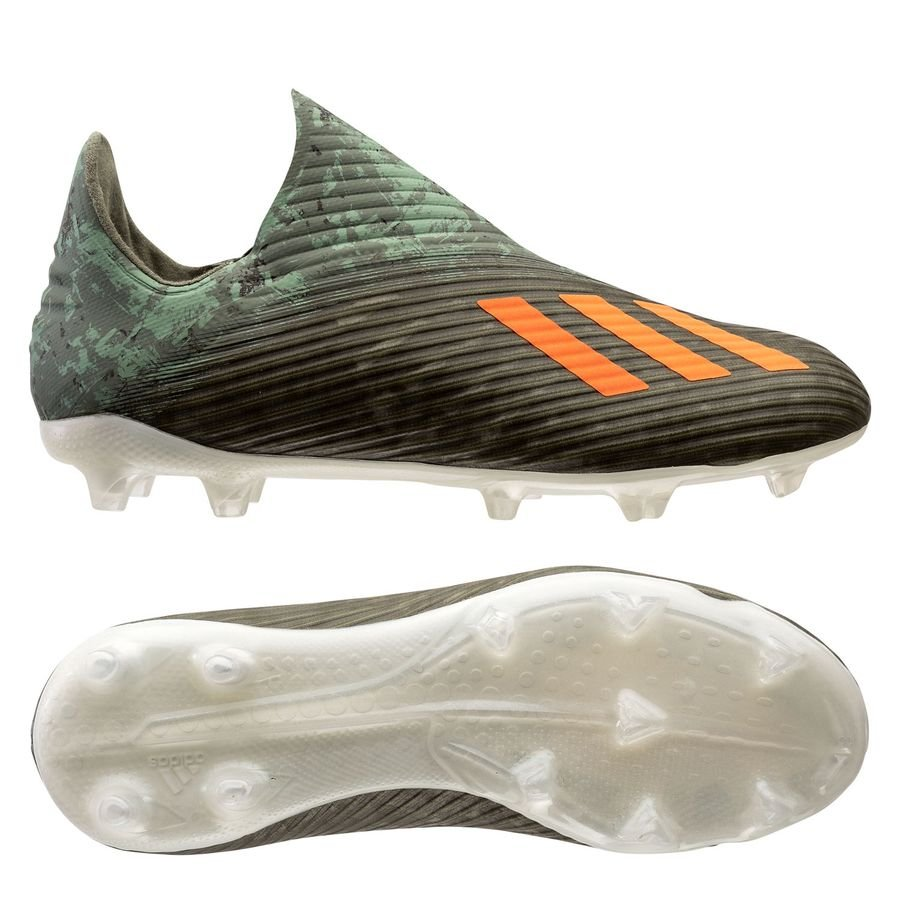 adidas X 19+ FG/AG Encryption - Legion Green/Solar Orange/Core White Kids