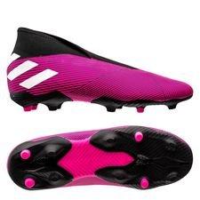 adidas Nemeziz 19.3 FG/AG Laceless Hard Wired - Pink/Hvid/Sort Børn