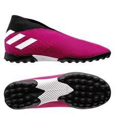 adidas Nemeziz Tango 19.3 TF Laceless Hard Wired - Pink/Hvid/Sort Børn