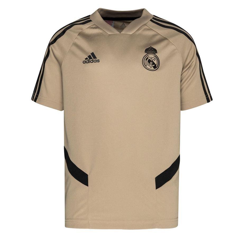 Real Madrid Trænings T-Shirt – Guld/Sort Børn