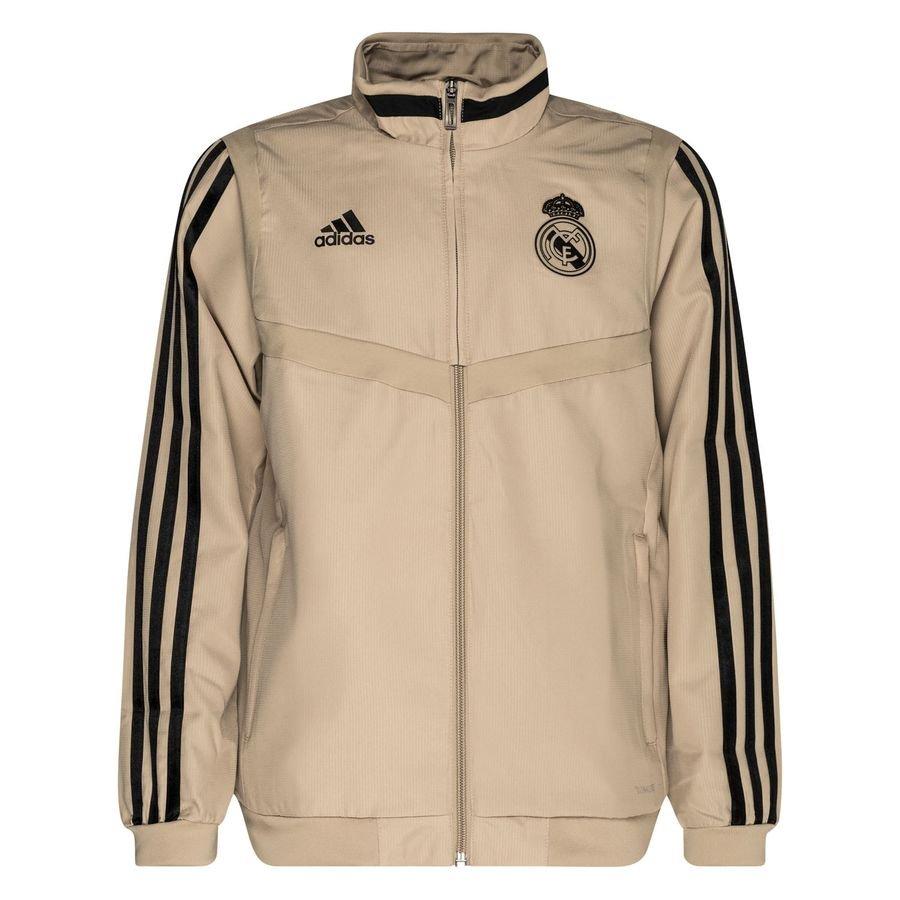Real Madrid Træningsjakke Presentation - Guld/Sort Børn thumbnail
