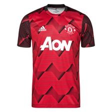 Manchester United Tränings T-Shirt Pre Match Parley - Röd/Grå