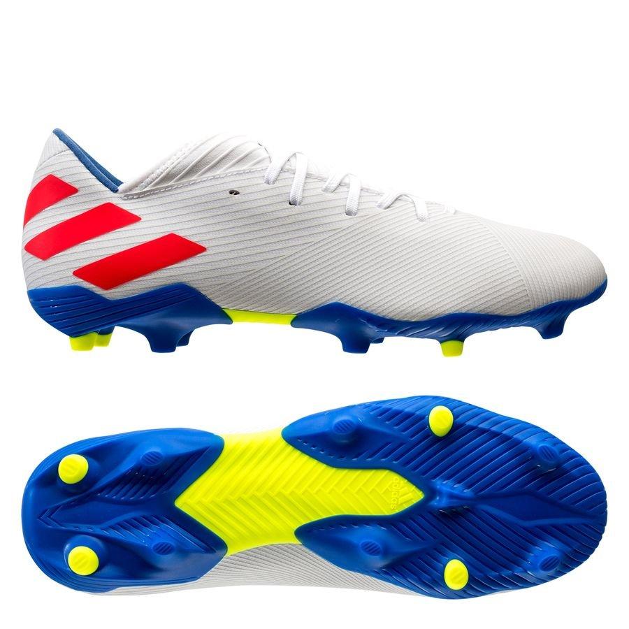 adidas Nemeziz Messi 19.3 FG/AG 302 Redirect - Hvid/Rød/Blå thumbnail