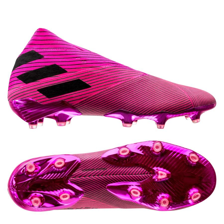 adidas Nemeziz 19+ FG/AG Hard Wired - Pink/Sort thumbnail