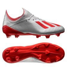 adidas X 19.1 FG/AG 302 Redirect - Zilver/Rood/Wit