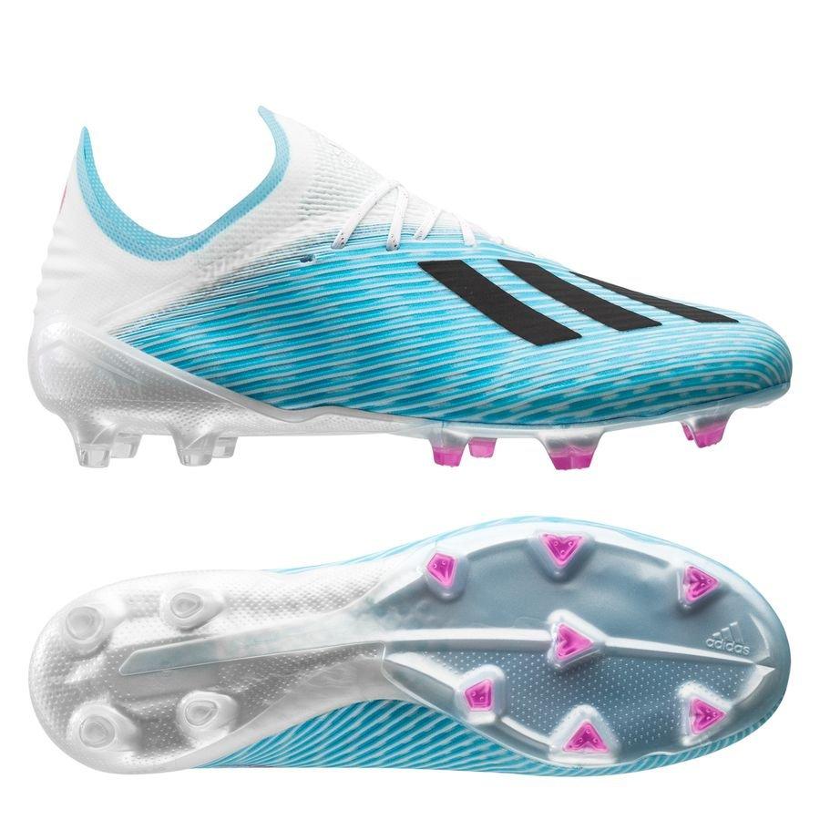 adidas X 19.1 FG/AG Hard Wired - Turkis/Sort/Pink thumbnail