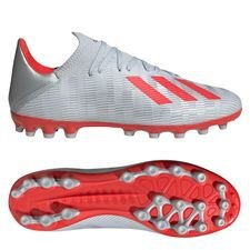 adidas X 19.3 AG 302 Redirect - Zilver/Rood