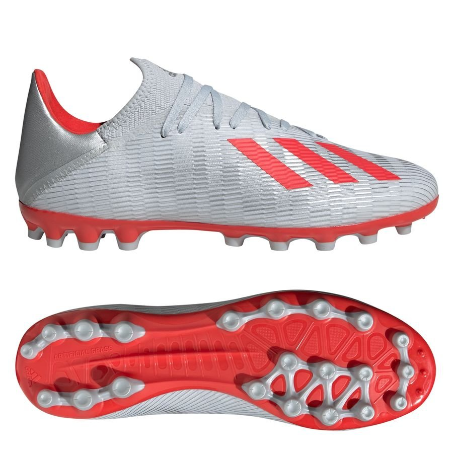 adidas X 19.3 AG - Sølv/Rød