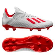 adidas X 19.3 FG/AG 302 Redirect - Zilver/Rood Kinderen