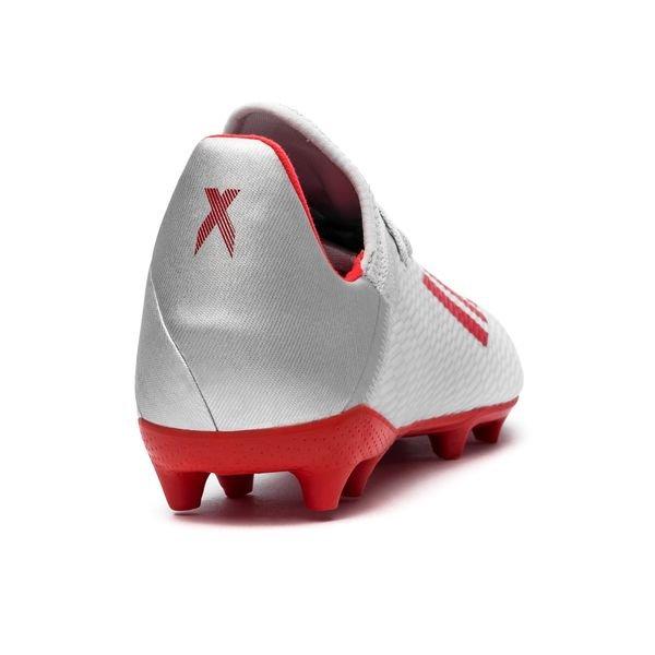 adidas X 19.3 FGAG 302 Redirect SølvRød Barn