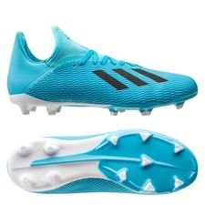 adidas X 19.3 FG/AG Hard Wired - Turkos/Svart Barn