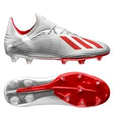 adidas X 19.2 FG/AG 302 Redirect - Zilver/Rood